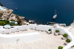 Steps at Oia Santorini Greece Stock Photo