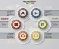 6 steps option diagram in circle alignment. Infographic design template and business concept with 6 options, parts, steps or processes. Can be used for work Royalty Free Stock Images