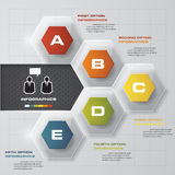 5 steps option template. business concept with 5 option. 5 steps option template. business concept with 5 options, parts, steps or processes. Can be used for Royalty Free Stock Photography