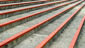 Steps at outdoor stadium. Three steps seen from a different perspective Stock Image