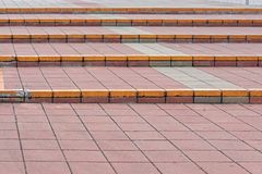 Steps. Outdoor steps with tiles pavement Stock Image