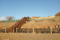 Steps over dune construction. Royalty Free Stock Photo
