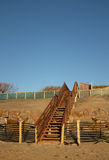 Steps over dune construction. Stock Photography