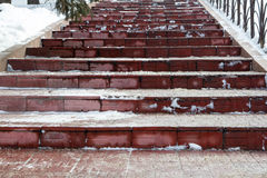 Steps in the park Stock Image
