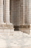 Steps and Pillar of Commercial Building Royalty Free Stock Image
