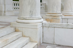Steps and Pillars made of marble Stock Image
