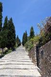 Steps at Pollensa vert. Calvary Steps at Pollensa, Mallorca, Spain stock photography