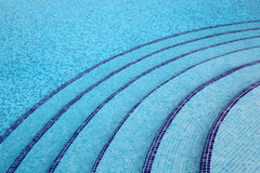 Steps into pool, pure, transparent water Stock Photos
