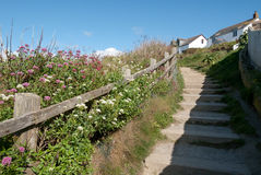 Steps in Port Isaac Royalty Free Stock Images
