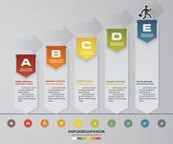 5 steps presentation template. 5 steps timeline presentation template. EPS10. Stock Photography