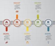 8 steps presentation template. 8 steps timeline presentation template. Stock Photo