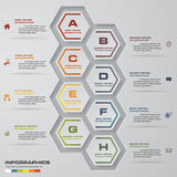 8 steps presentation template. 8 steps timeline presentation template. EPS10 royalty free illustration