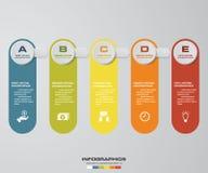 5 steps presentation template. 5 steps timeline presentation template. EPS10 royalty free illustration