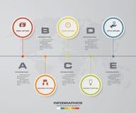 5 steps presentation template. 5 steps timeline presentation template. EPS10 vector illustration