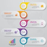 5 steps process. Simple&Editable abstract design element. EPS 10 royalty free illustration