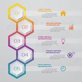 5 steps process. Simple&Editable abstract design element. EPS 10 vector illustration