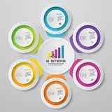6 steps process. Simple&Editable abstract design element. EPS 10 vector illustration