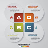 4 steps process. Simple&Editable abstract design element. Vector. EPS10 Stock Photography