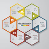 6 steps process. Simple&Editable abstract design element. Vector. 6 steps process. Simple&Editable abstract design element. Vector. EPS10 Royalty Free Stock Images