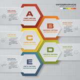 5 steps process. Simple&Editable abstract design element. Vector. EPS10 Stock Photos