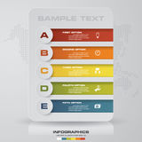 5 steps process. Simple&Editable abstract design element. Vector. EPS10 Royalty Free Stock Photo