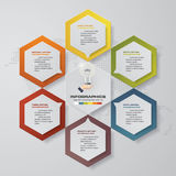 6 steps process. Simple&Editable abstract design element. Vector. Royalty Free Stock Images