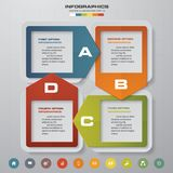 4 steps process. Simple&Editable abstract design element. Vector. Stock Image