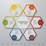 6 steps process. Simple&Editable abstract design element. Vector. EPS 10 Royalty Free Stock Photography