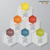 6 steps process. Simple&Editable abstract design element. Vector. EPS 10 royalty free illustration
