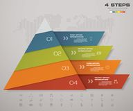 4 steps pyramid with free space for text on each level. infographics, presentations or advertising. EPS10 Stock Photos