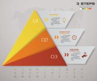 3 steps pyramid with free space for text on each level. infographics, presentations or advertising. EPS10 Stock Photos
