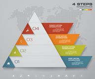 4 steps pyramid with free space for text on each level. infographics, presentations or advertising. EPS10 Royalty Free Stock Photography