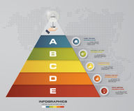 5 steps pyramid with free space for text on each level. infographics, presentations or advertising. EPS10 Royalty Free Stock Photo
