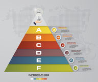 6 steps pyramid with free space for text on each level. infographics, presentations or advertising. EPS10 Stock Photo