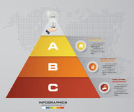 3 steps pyramid with free space for text on each level. infographics, presentations or advertising. EPS10 Royalty Free Stock Photo