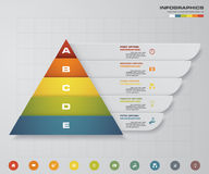 5 steps pyramid with free space for text on each level. infographics, presentations or advertising. EPS10. 5 steps pyramid with free space for text on each Royalty Free Stock Images