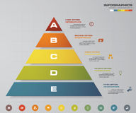 5 steps pyramid with free space for text on each level. infographics, presentations or advertising. EPS10. 5 steps pyramid with free space for text on each Stock Images