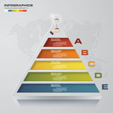 5 steps pyramid with free space for text on each level. infographics, presentations or advertising. EPS10 Stock Image