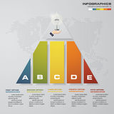 5 steps pyramid with free space for text on each level. infographics, presentations or advertising. EPS10 Royalty Free Stock Images