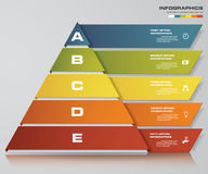 5 steps pyramid with free space for text on each level. infographics, presentations or advertising. EPS10 Stock Photos