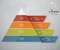 4 steps pyramid with free space for text on each level. infographics, presentations or advertising. EPS10 Royalty Free Stock Photo