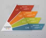 4 steps pyramid with free space for text on each level. infographics, presentations or advertising. EPS10 Royalty Free Stock Image