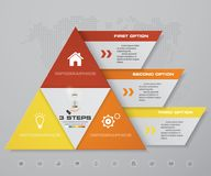 3 steps pyramid with free space for text on each level. infographics, presentations or advertising. EPS10 Royalty Free Stock Images