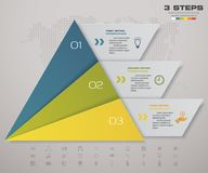 3 steps pyramid with free space for text on each level. infographics, presentations or advertising. EPS 10 Royalty Free Stock Photo