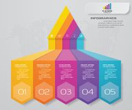 5 steps pyramid with free space for text on each level. infographics, presentations or advertising. S10 stock illustration