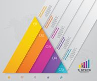 5 steps pyramid with free space for text on each level. infographics, presentations or advertising. EPS10 vector illustration
