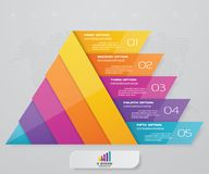 5 steps pyramid with free space for text on each level. infographics, presentations or advertising. EPS10 royalty free illustration