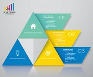 3 steps pyramid with free space for text on each level. infographics, presentations or advertising. EPS10 royalty free illustration