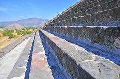 Steps on Pyramid, Mexico Stock Photo