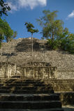Steps of the pyramid stairs. Structure of 1  in the complex rise Royalty Free Stock Photography